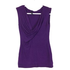 Kenneth Cole Purple V-neck Sleeveless Top S
